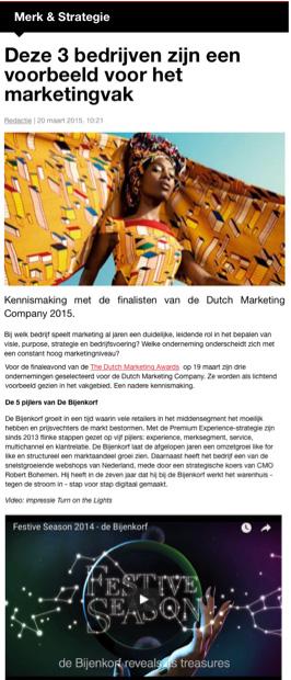 Nominatie Dutch Marketing Awards