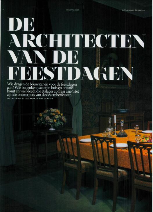 Architecten van de Feestdagen - Volkskrant