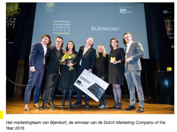 Winnaars Dutch marketing Company of the Year 2016