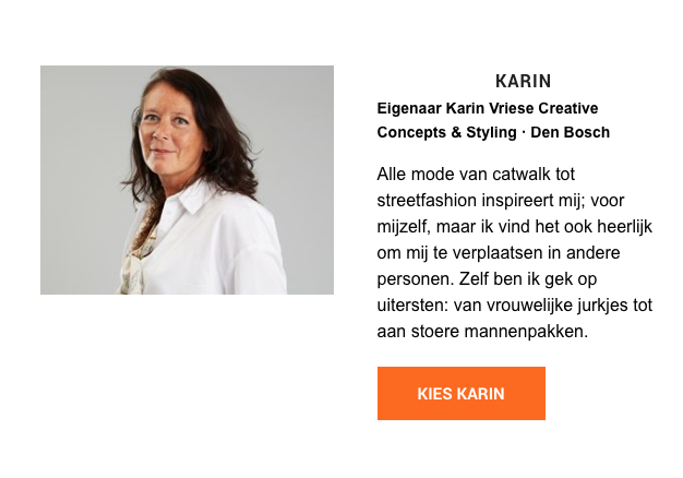 Stylist Karin Vriese